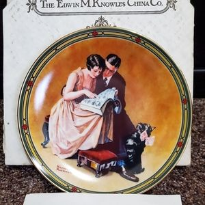 A couple's commitment plate by Norman Rockwell